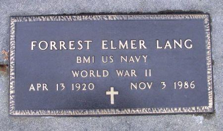 LANG, FORREST ELMER - Winneshiek County, Iowa   FORREST ELMER LANG