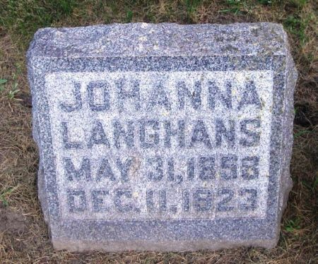 LANGHANS, JOHANNA - Winneshiek County, Iowa | JOHANNA LANGHANS