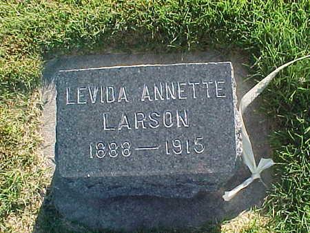 LARSON, LEVIDA ANNETTE - Winneshiek County, Iowa   LEVIDA ANNETTE LARSON