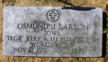 LARSON, OSMUND J. - Winneshiek County, Iowa   OSMUND J. LARSON