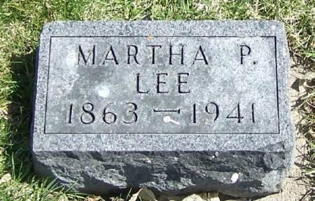 LEE, MARTHA P - Winneshiek County, Iowa   MARTHA P LEE
