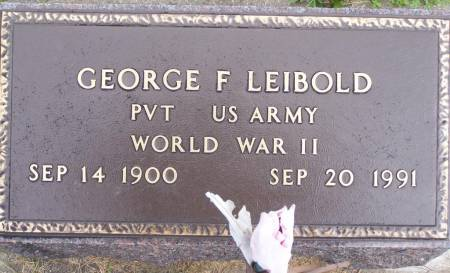LEIBOLD, GEORGE F - Winneshiek County, Iowa | GEORGE F LEIBOLD