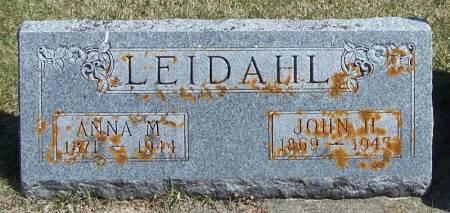 LEIDAHL, JOHN H - Winneshiek County, Iowa | JOHN H LEIDAHL