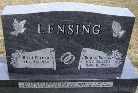 LENSING, ROMAN EDWARD - Winneshiek County, Iowa   ROMAN EDWARD LENSING