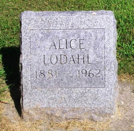 LODAHL, ALICE - Winneshiek County, Iowa | ALICE LODAHL