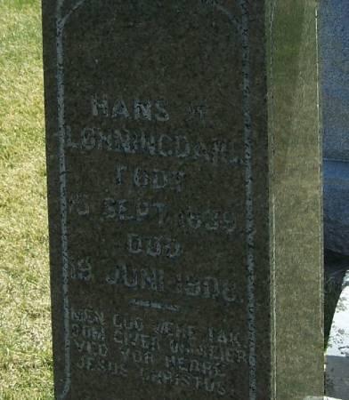 LONNINGDAHL, HANS H - Winneshiek County, Iowa   HANS H LONNINGDAHL