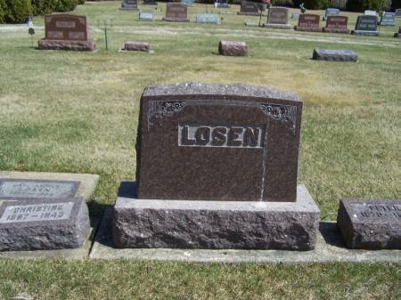 LOSEN, PETER FAMILY STONE - Winneshiek County, Iowa | PETER FAMILY STONE LOSEN