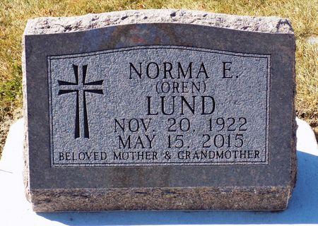 CORPUS LUND, NORMA E. OREN - Winneshiek County, Iowa | NORMA E. OREN CORPUS LUND