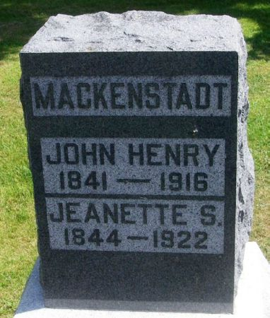 MACKENSTADT, JEANETTE S. - Winneshiek County, Iowa | JEANETTE S. MACKENSTADT