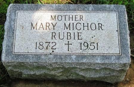 MICHOR RUBIE, MARY - Winneshiek County, Iowa   MARY MICHOR RUBIE