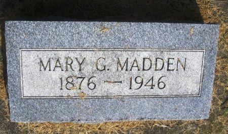 MADDEN, MARY G. - Winneshiek County, Iowa   MARY G. MADDEN