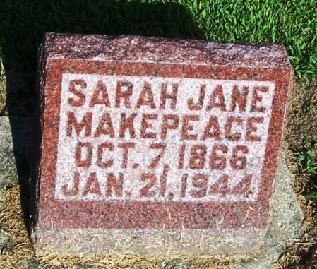MAKEPEACE, SARAH JANE - Winneshiek County, Iowa   SARAH JANE MAKEPEACE