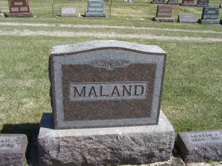 MALAND, AUSTIN FAMILY STONE - Winneshiek County, Iowa   AUSTIN FAMILY STONE MALAND