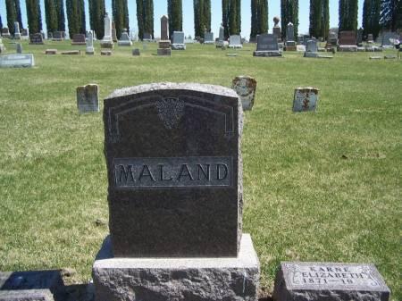 MALAND, JOHN FAMILY STONE - Winneshiek County, Iowa   JOHN FAMILY STONE MALAND