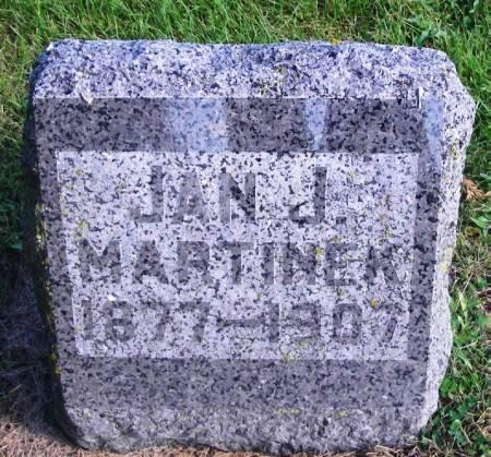 MARTINEK, JAN J, - Winneshiek County, Iowa   JAN J, MARTINEK