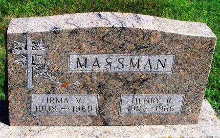 MASSMAN, IRMA V. - Winneshiek County, Iowa   IRMA V. MASSMAN