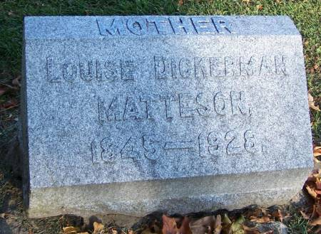 DICKERMAN MATTESON, LOUISE - Winneshiek County, Iowa | LOUISE DICKERMAN MATTESON