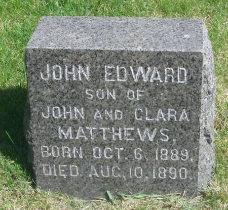 MATTHEWS, JOHN EDWARD - Winneshiek County, Iowa | JOHN EDWARD MATTHEWS