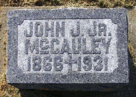 MCCAULEY, JOHN J. JR. - Winneshiek County, Iowa | JOHN J. JR. MCCAULEY