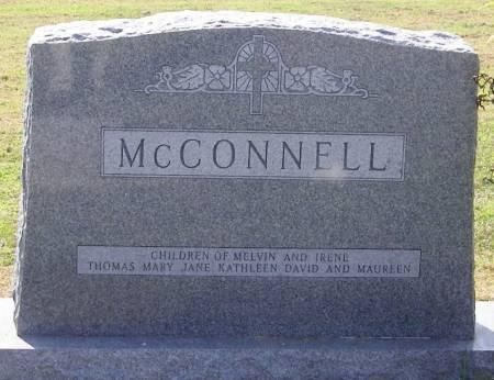 MCCONNELL, MELVIN P FAMILY STONE - Winneshiek County, Iowa   MELVIN P FAMILY STONE MCCONNELL