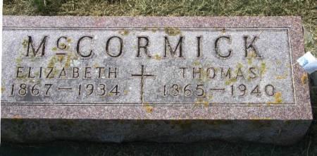 MCCORMICK, ELIZABETH - Winneshiek County, Iowa | ELIZABETH MCCORMICK