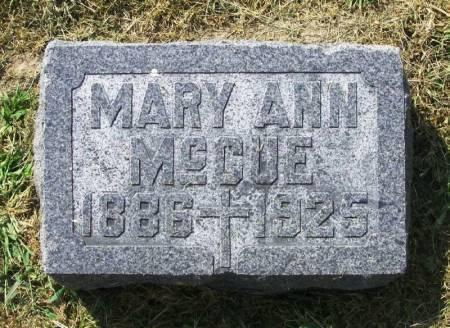 MCCUE, MARY ANN - Winneshiek County, Iowa   MARY ANN MCCUE