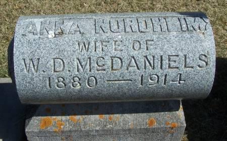 MCDANIELS, ANNA NORDHEIM - Winneshiek County, Iowa | ANNA NORDHEIM MCDANIELS