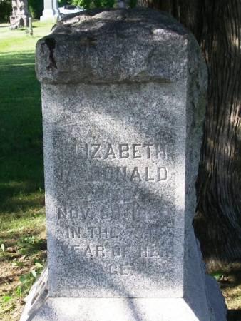 MCDONALD, ELIZABETH - Winneshiek County, Iowa | ELIZABETH MCDONALD