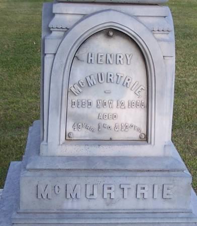 MCMURTRIE, HENRY - Winneshiek County, Iowa   HENRY MCMURTRIE