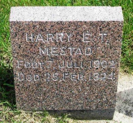 MESTAD, HARRY EARL TRUMAN - Winneshiek County, Iowa   HARRY EARL TRUMAN MESTAD