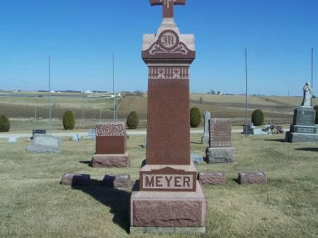 MEYER, JOSEPH D. FAMILY STONE - Winneshiek County, Iowa   JOSEPH D. FAMILY STONE MEYER
