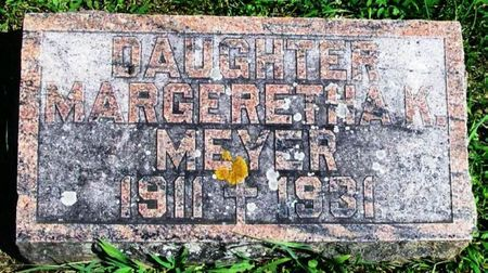 MEYER, MARGERETHA K. - Winneshiek County, Iowa   MARGERETHA K. MEYER