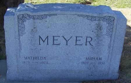 MEYER, MIRIAM - Winneshiek County, Iowa | MIRIAM MEYER