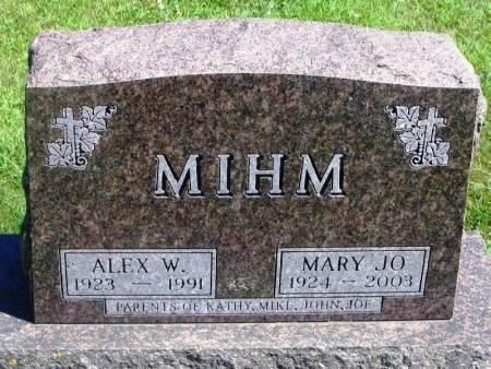MIHM, ALEX W - Winneshiek County, Iowa | ALEX W MIHM
