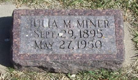 MINER, JULIA M - Winneshiek County, Iowa   JULIA M MINER