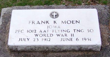 MOEN, FRANK K. - Winneshiek County, Iowa | FRANK K. MOEN
