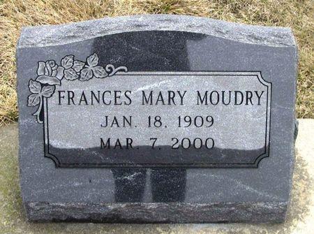 MOUDRY, FRANCES MARY - Winneshiek County, Iowa | FRANCES MARY MOUDRY