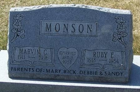 MONSON, MARVIN G - Winneshiek County, Iowa   MARVIN G MONSON