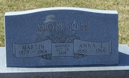 MONSON, ANNA E - Winneshiek County, Iowa | ANNA E MONSON