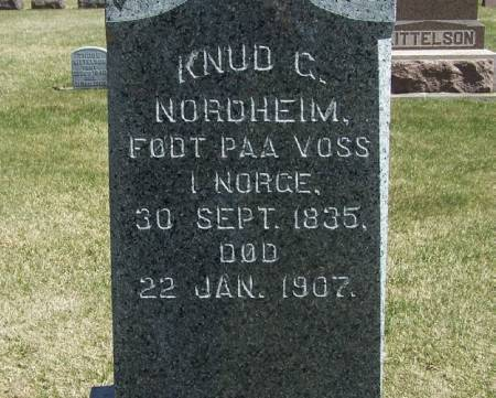 NORDHEIM, KNUT C - Winneshiek County, Iowa | KNUT C NORDHEIM