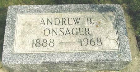 ONSAGER, ANDREW B. - Winneshiek County, Iowa   ANDREW B. ONSAGER