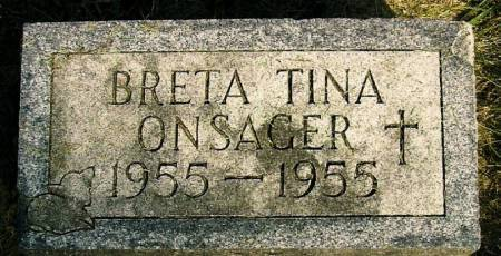 ONSAGER, BRETA TINA - Winneshiek County, Iowa   BRETA TINA ONSAGER