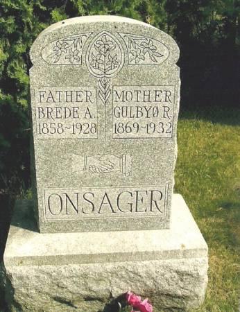 ONSAGER, GULBYØ R. - Winneshiek County, Iowa   GULBYØ R. ONSAGER