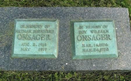 ONSAGER, ROY WILLIAM - Winneshiek County, Iowa | ROY WILLIAM ONSAGER