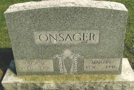 ONSAGER, OLGA M. - Winneshiek County, Iowa   OLGA M. ONSAGER