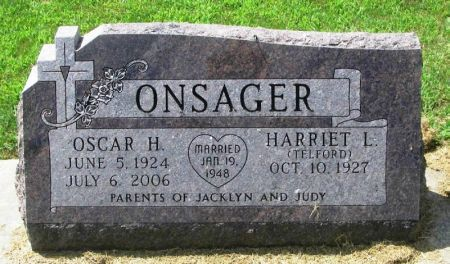ONSAGER, OSCAR H. - Winneshiek County, Iowa | OSCAR H. ONSAGER