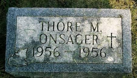 ONSAGER, THORE M. - Winneshiek County, Iowa | THORE M. ONSAGER