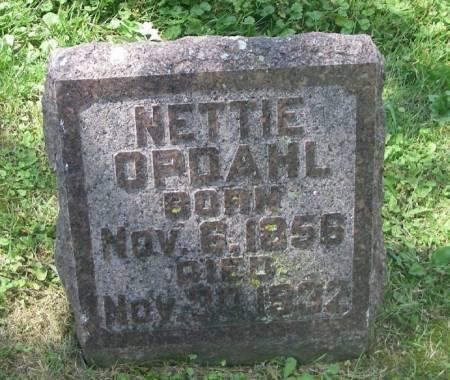 OPDAHL, NETTIE - Winneshiek County, Iowa | NETTIE OPDAHL