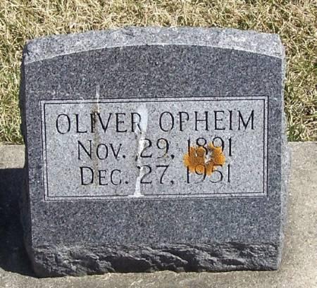 OPHEIM, OLIVER - Winneshiek County, Iowa   OLIVER OPHEIM