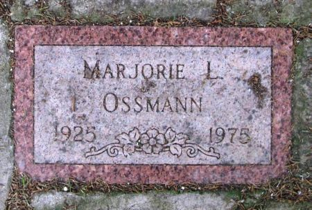 OSSMANN, MARJORIE L. - Winneshiek County, Iowa   MARJORIE L. OSSMANN